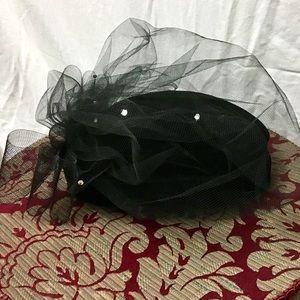 🎁Vintage Black and Mesh Fedora Hat
